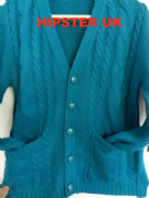 Cable Cardi Turquoise